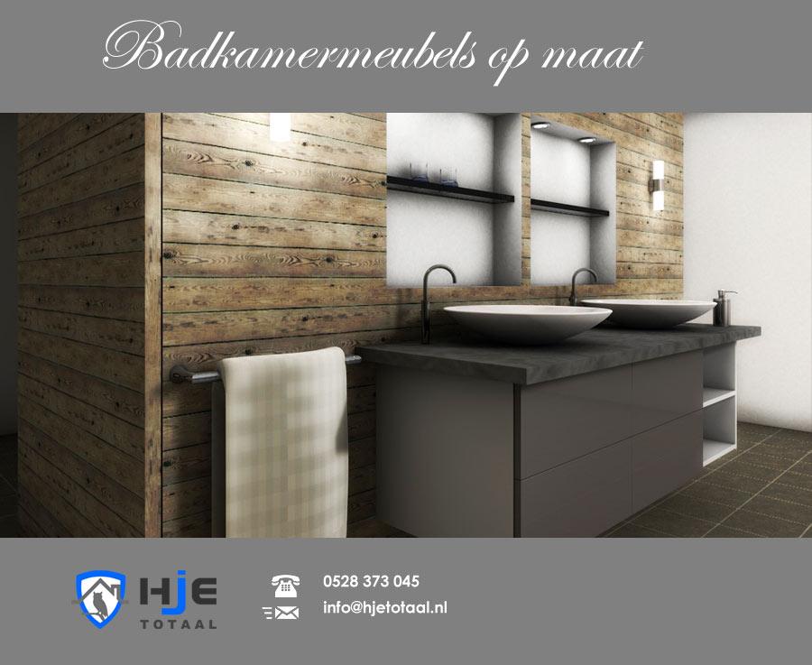 Badkamermeubel op maat hje totaal - Landelijke badkamer meubels ...