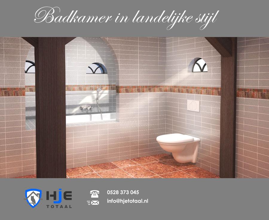 Badkamer Landelijke Stijl | HJE Totaal